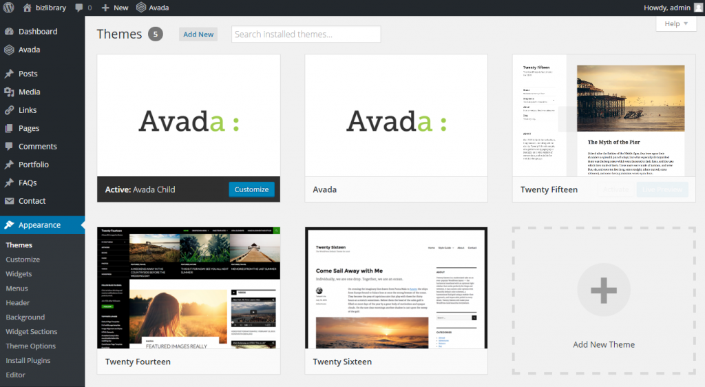 Users can change the look of their site with just a click. New themes can be easily uploaded.